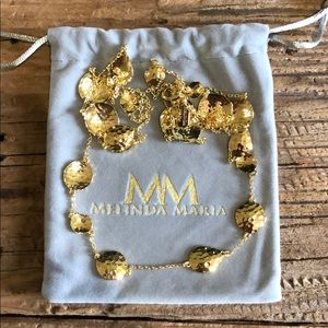 Melinda Maria gold necklace